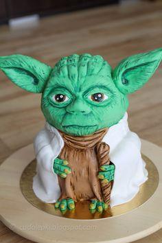 TV / Movies / Celebrity - Yoda 3D Cake tutorial / PL
