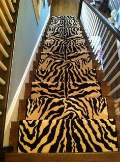 Animal print carpet for master closet