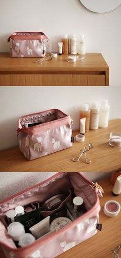 The Dailylike Frame Pouch v2 is a well-made pouch that will help you stay neat and organized! As it has a framed opening, it opens wide so that you can conveniently take items from inside. The compartment has pockets in different sizes and flat bottom to hold more items. This beautiful pouch is great for a daily use to hold cosmetics and other daily items, and also for travel!
