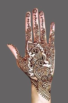 Favorite- must have this on finger tips with paisley on one hand and elephant on other.
