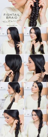 wedding hairstyles step by step Fishtail braid step-by-step tutorial. indisch fishtail # two Braids step by step African Braids Hairstyles, African Hairstyles, Trendy Hairstyles, Braided Hairstyles, Woman Hairstyles, Teenage Hairstyles, Wedding Hairstyles, Fishtail Braids, Two Braids