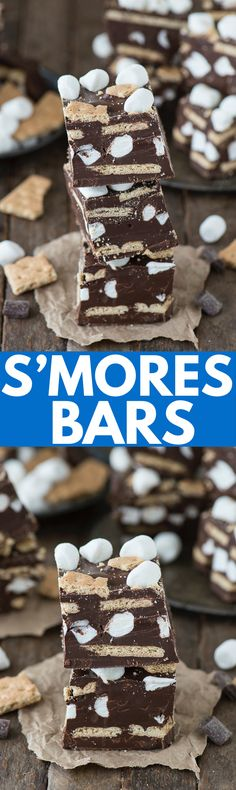 you love about s'mores turned into chocolate s'mores bars ...
