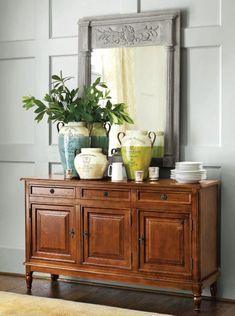 A large console table is a must in a dining room of any size.