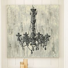 Chandelier Trois Hand Painted Canvas