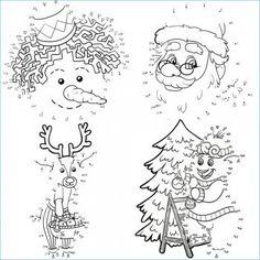 Dibujos para unir puntos en Navidad.