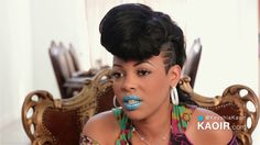 ka'oir  lunch  lipstick Power Lunch, Dreadlocks, Lipstick, Drop Earrings, Hair Styles, Beauty, Fashion, Hair Plait Styles, Moda