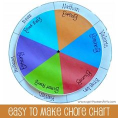 Easy to Make Chore Chart.  Great for Multiple Kids also great for older kids.  Add More Layers for More Chores.  #chores #kids #easytomake