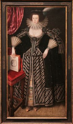 Portrait of lady, probably Mrs Clement Edmondes, British School 17th c, about 1605-10 | Flickr - Photo Sharing!