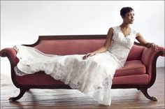 bride on a couch and flower pose - Google Search