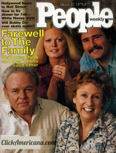 Vintage People Magazine All In the Family March 27 1978 Sally Struthers, All In The Family, Family Tv, Originals Cast, Old Magazines, Vintage Magazines, Old Tv Shows, Tv Guide, People Magazine