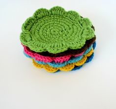 coasters- great beginning crochet project