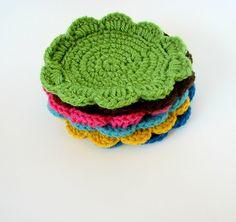 coasters- great beginning crochet project