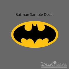 Batman Emblem Sample Vinyl Wall Decal Sticker  by StunningWalls