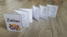 Ich habe ein Leporello mit den Zahlen von 1 bis 10 erstellt. Die Schüler können hier noch einmal die Zahlen nachspuren und die passende Meng...