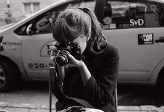 Audrey Hepburn with her Camera