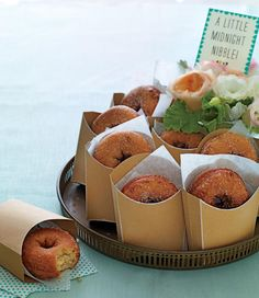 A Midnight Snack. Keep family and friends fueled well into the after party with a midnight snack. l TheKnot.com