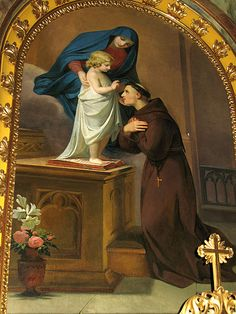 St. Anthony of Padua Melchior Paul von Deschwanden –19th. century Altarpiece of the church St. Ulrich in Gröden