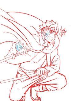 Boruto Naruto Sketch, Naruto Drawings, Naruto Art, Naruto And Sasuke, Anime Naruto, Naruto Shippuden, Boruto Rasengan, Boruto And Sarada, Naruto Oc Characters
