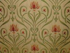 Art Nouveau Tiffany Soft Gold Thick Designer Jacquard Curtain Upholstery Fabric