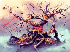 Desafio Criativo: Enfeite sua área de trabalho com o encantador mundo de fantasia criado por Cyril