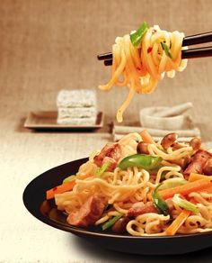 Asian Recipes, Ethnic Recipes, Healthy Lifestyle, Pork, Food And Drinks, Easy Fish Recipes, Pasta With Vegetables, Pasta Meals, Healthy Living