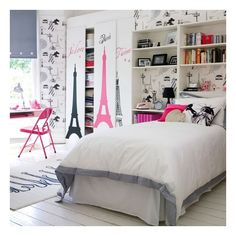 5 Cozy Teenage Bedroom Design Ideas for Girls ❤ liked on Polyvore