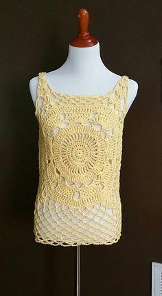Mandi tank top crochet pattern