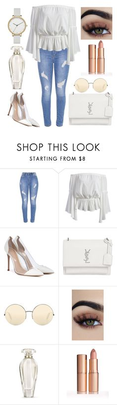 """""""Untitled #123"""" by itsmexo ❤ liked on Polyvore featuring Gianvito Rossi, Yves Saint Laurent, Victoria Beckham, Victoria's Secret and Skagen"""