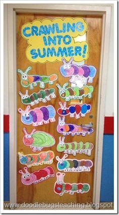 Crawling into Summer Door .. directed drawing activity