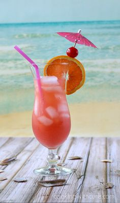 You can almost feel the ocean breeze while enjoying this refreshing Bahama Mama!