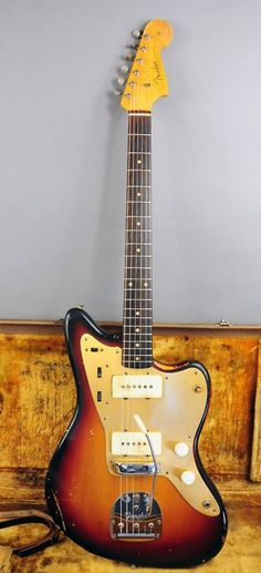 A '58 Jazzmaster. Worn but broken in. Thumping some 13s. And with the tone rolled off just a little.