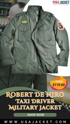 Buy Taxi Driver Robert De Niro Field Jacket In Green Shade. it has Military Look. Military Looks, Military Green, Military Jacket, Taxi Driver, Field Jacket, Jackets, Men, Robert De Niro, Parkas