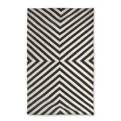 black bridget kilim rug 5x8