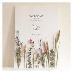 最高にシンプルでナチュラルなウェディングアイテム*クラシカ表参道で行うウェディング Wedding Signs, Wedding Cards, Diy Wedding, Wedding Flowers, Wedding Invitations, Wedding Welcome Board, Welcome Boards, Wedding Paper, Wedding Images
