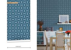 WR0165JD - Empire Weave Geometric Wallpaper. Classic wallpaper that never goes out of style, but always open to a fresh and modern reinterpr...