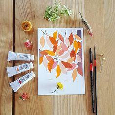 First try is always fun^^ gouache painting practice, interesting~ °°°°°°°°°°°°°°°°°°°°°°°°°°°°°°°°°°°°°°°°°°°°°°°°°°°°°°°°°°°°°°° #winsorandnewton #gouache #art #watercolor #paint #illustrations #watercolorpainting #illustration #doodling #sketch #drawing #watercolorart #watercolorillustration #artoftheday #coloring #leaves #artstagram #artdaily #수채화 #일러스트 #손그림