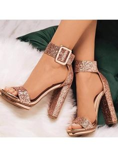 Sequin Open Toe Line-Style Buckle Platform Prom Sandals Pailletten Open Toe Line-Style Schnalle Plattform Prom Sandalen The post Pailletten Open Toe Line-Style Schnalle Plattform Prom Sandalen & Shoes appeared first on Shoes . Lace Up Heels, Pumps Heels, Rose Gold Heels, Glitter High Heels, Sparkly Heels, Glitter Uggs, Glitter Nikes, Glittery Nails, Glitter Bomb