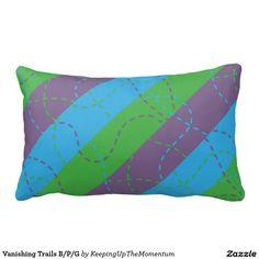 Vanishing Trails B/P/G Throw Pillow