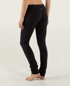 Lululemon Skinny Groove Pant *Full-On Luon; size 6; black or black & ultra violet