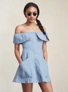 It's about time your shoulders (and legs) made an appearance. The Botanica Dress is a flirty little thing you'll wear all summer. https://www.thereformation.com/products/botanica-dress-blue-crush?utm_source=pinterest&utm_medium=organic&utm_campaign=PinterestOwnedPins