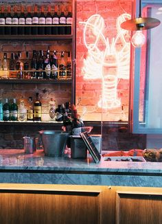 Lobster Restaurant, Lobster Pound, Bar Interior Design, Oyster Bar, Bilbao, Restaurant Design, Oysters, Ps, Signage
