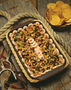"Fiesta Shrimp Casserole, from ""Hooked on Seafood"" cookbook, available from the Texas Sea Grant College Program."