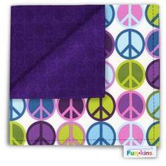Funkins - Cloth Napkin - Purple Peace Eco Kids, Cloth Napkins, Peace, Purple, Giveaways, Fun, Viola, Lol, Funny