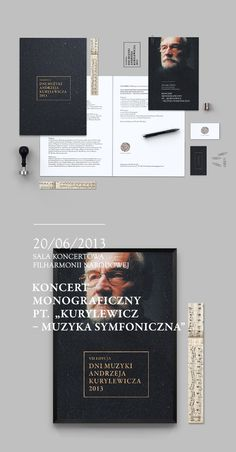 Andrzej Kurylewicz Days / Warsaw Philharmonic by Zdunkiewicz, via Behance