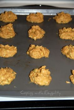 Pumpkin Zucchini Cookies {Recipe}.  All that is missing is the chocolate chips!
