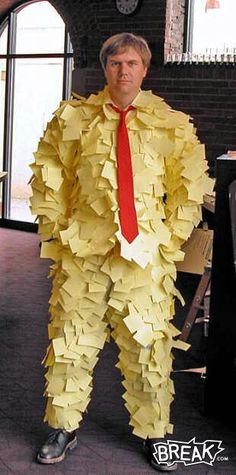 LOL new business outfit! Post It Note Art: Mr Post It Note