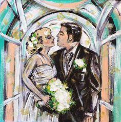 CUSTOM Couples Portrait. Engagement Gift Anniversary