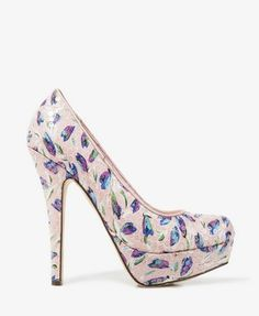 Sequined Tulip Print Pumps | FOREVER21 - 2040419977