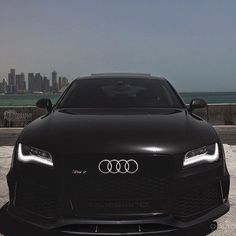 Audi RS7.  What's better looking, the skyline or the audi?