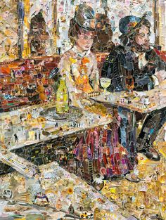 Artist Vik Muniz uses thousands of torn scraps of paper to… | denlArt.   Look close up- where is Waldo?